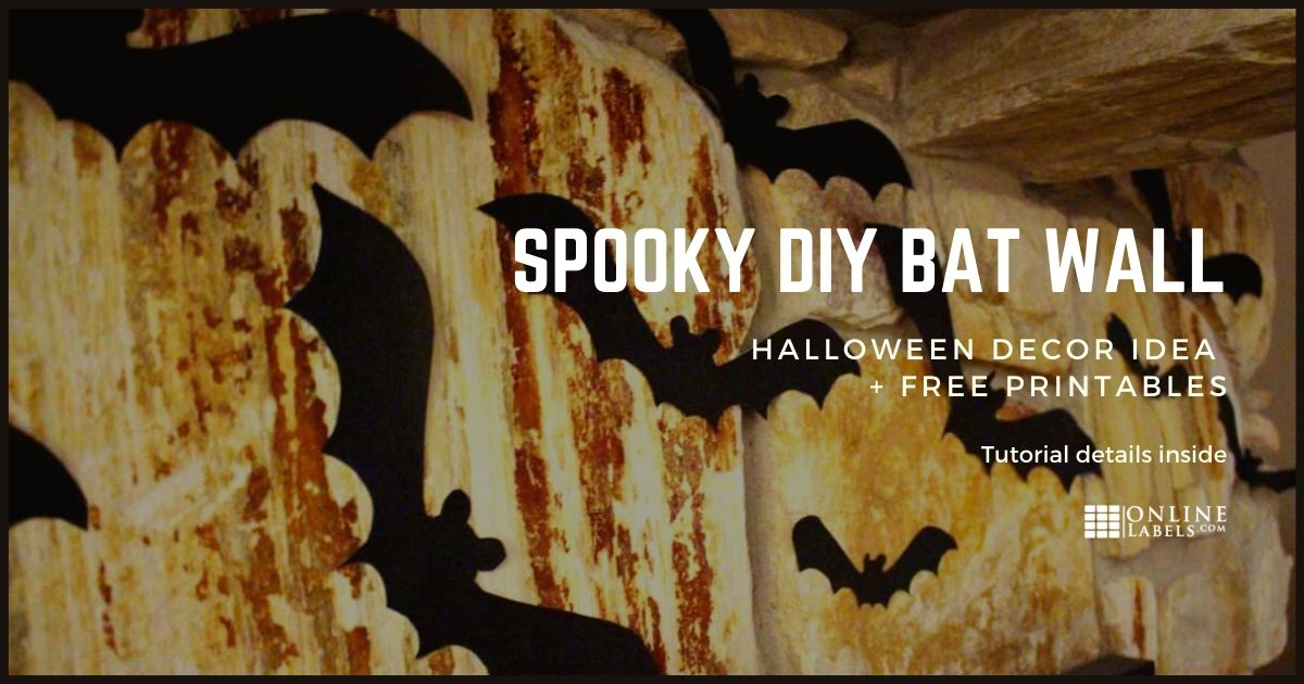 DIY Spooky Bat Wall For Halloween
