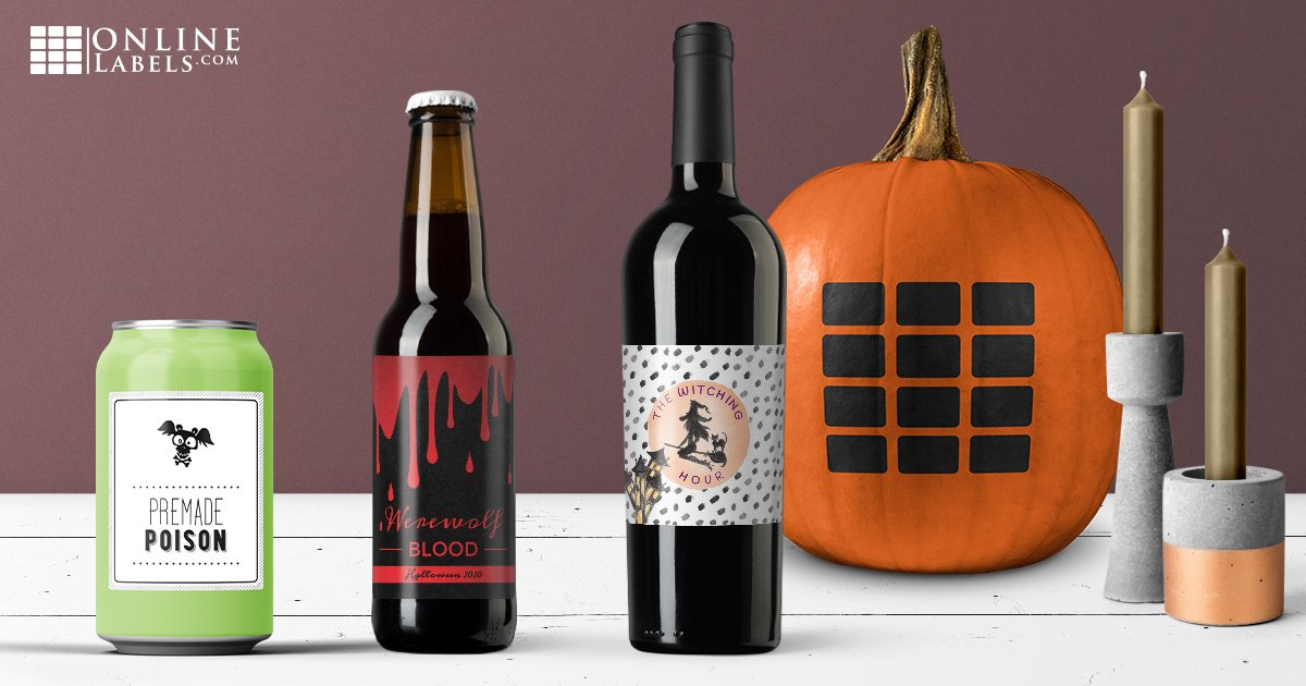 Celebrate Halloween with these free printable label templates for water bottles, wine bottles, and beer bottles