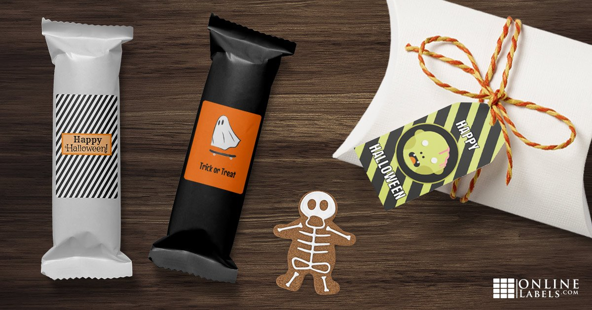 Send kids, friends, and family home from your Halloween bash with this selection of free printable party label templates