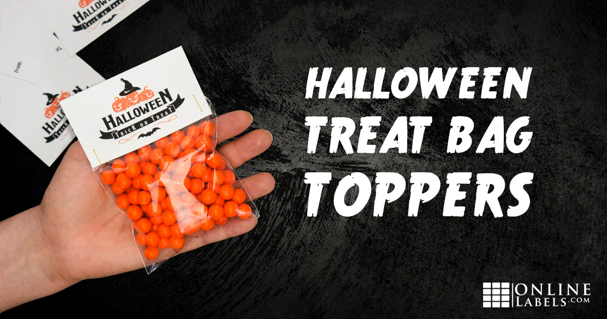 How To Make A Halloween Treat Bag Topper
