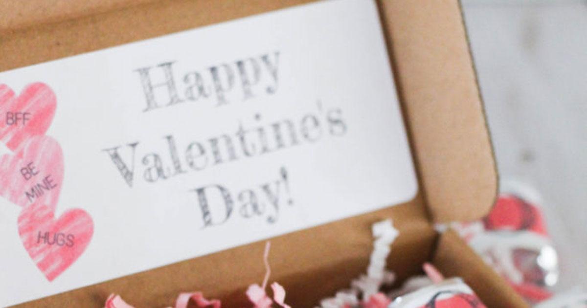 Inside Valentine's Day giftbox