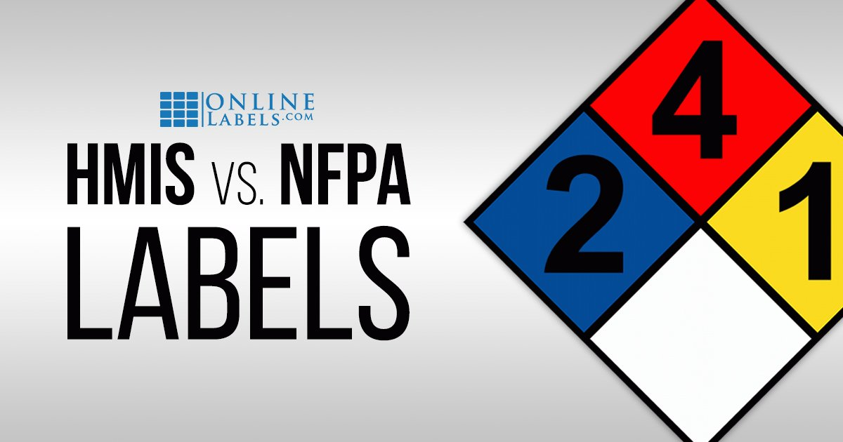 Differences between NFPA and HMIS labels.