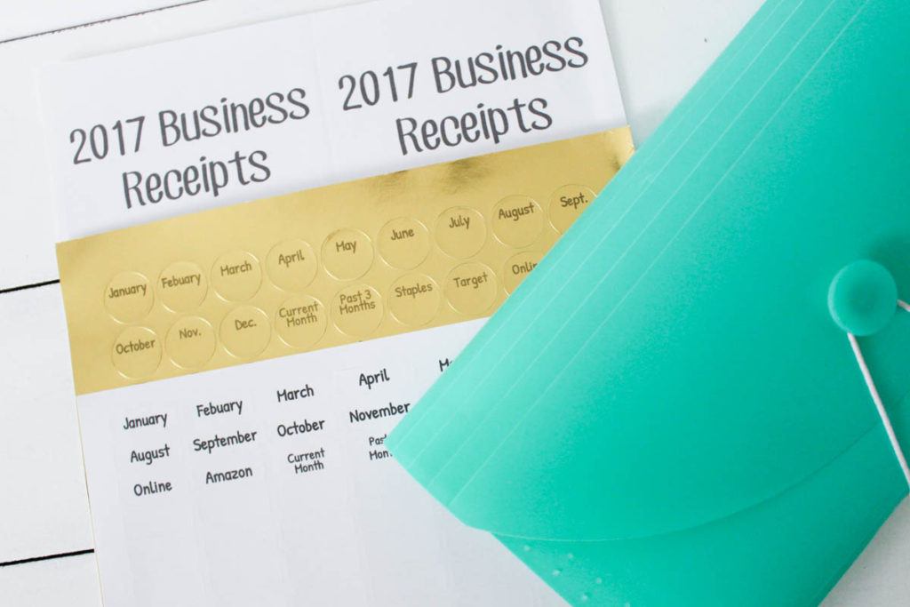Organizing Your Tax Receipts With Labels