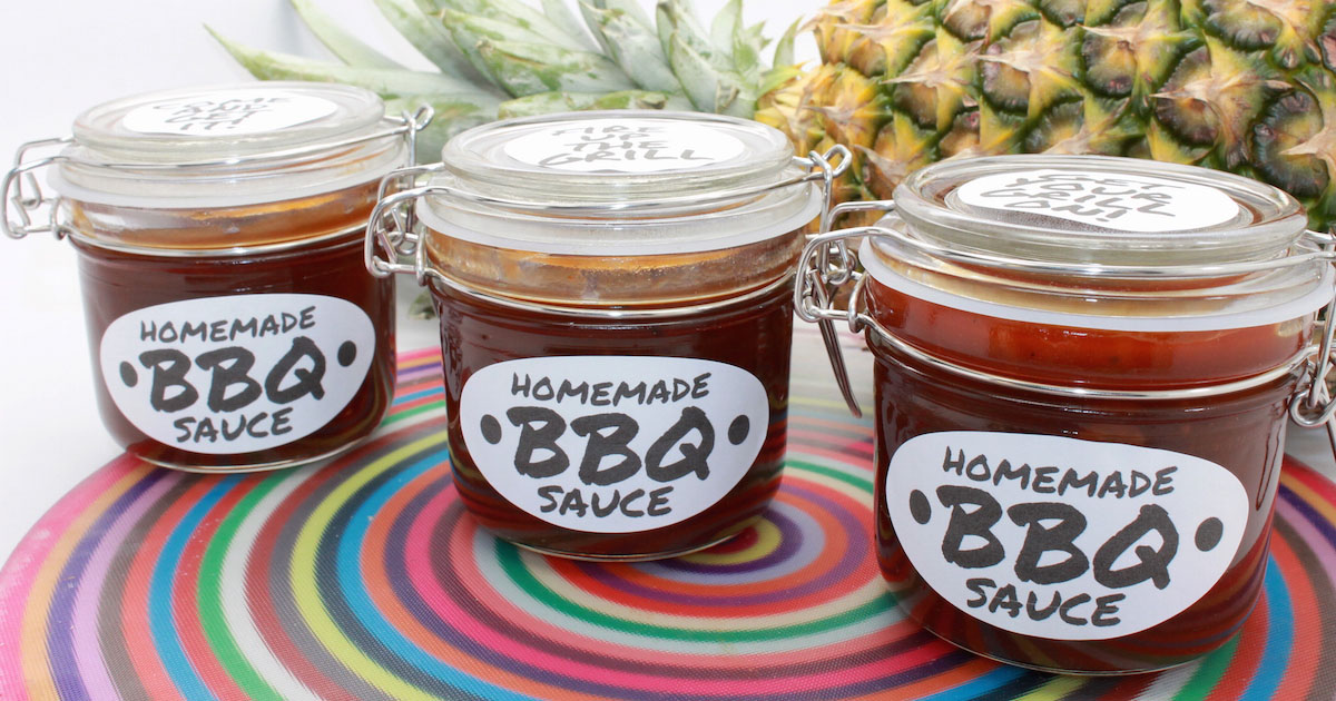 BBQ sauce recipe + free printable labels