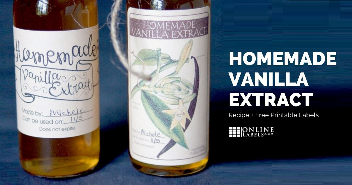 Homemade Vanilla Extract Recipe [With Free Printable Labels]
