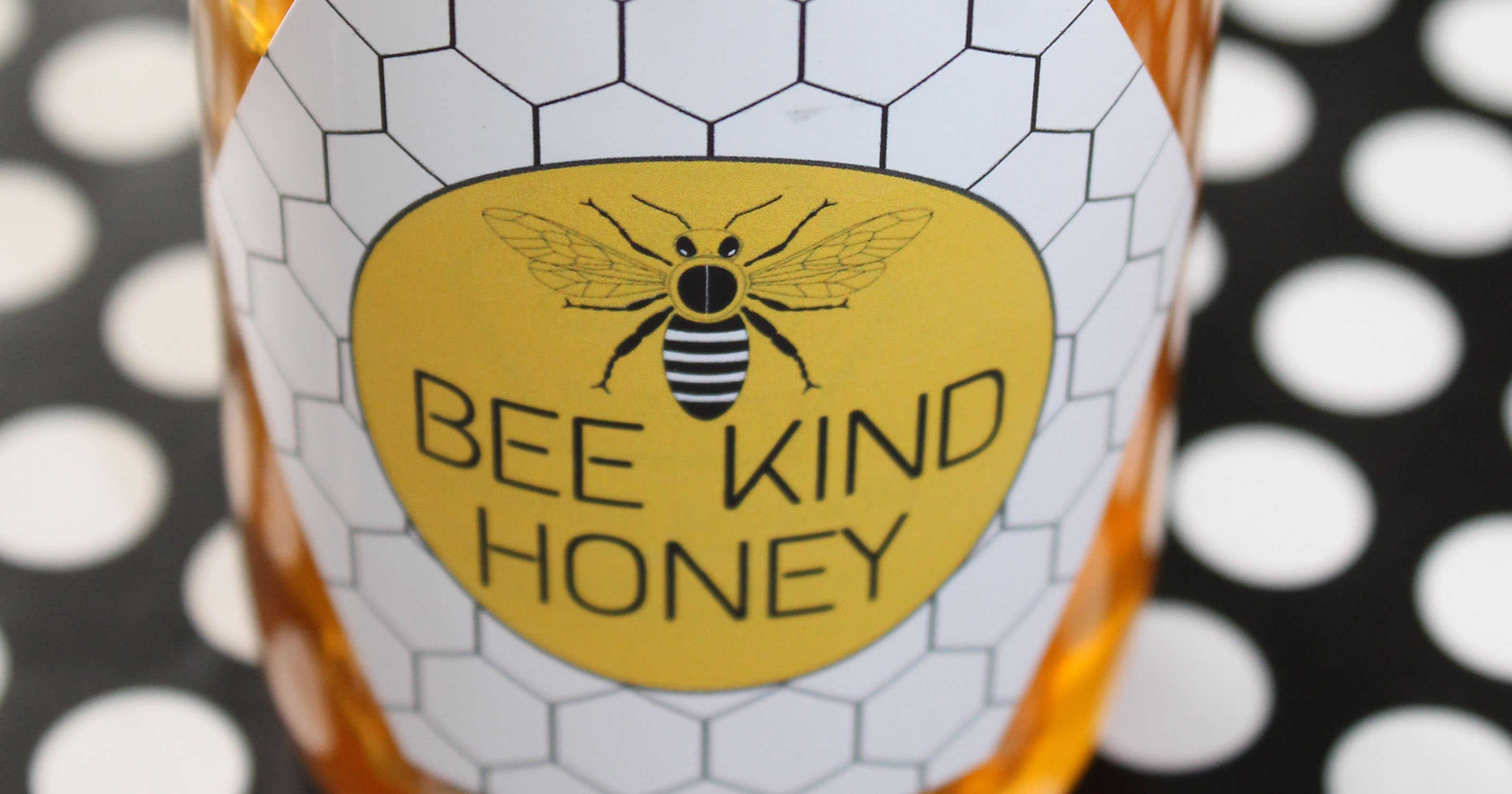 Free pre-designed label template for labeling homegrown honey.