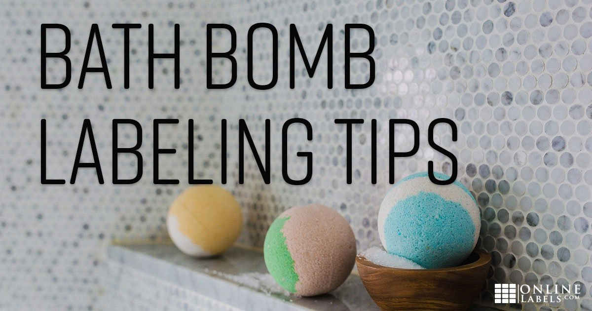 Different packaging and labeling tips for round objects like bath bombs