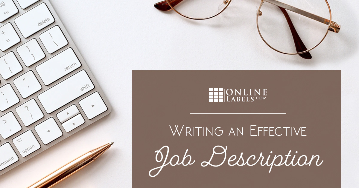 Writing an effective job description.