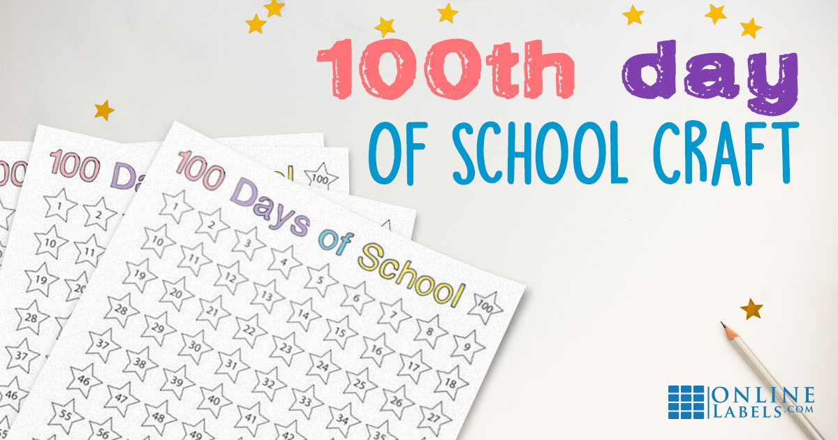 School activity: countdown from day 1 of school to day 100