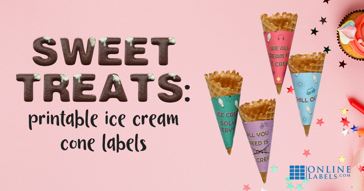 Be the coolest mom on the block with custom wrappers for the kids ice cream cones; free printable template