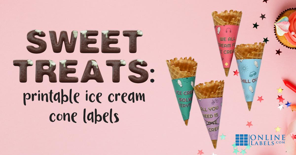 DIY Ice Cream Cone Labels + Free Printables