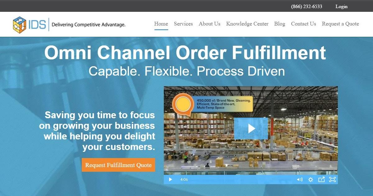 IDS Fulfillment homepage
