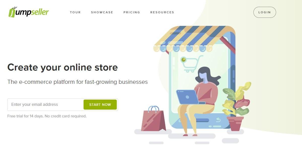 Jumpseller homepage
