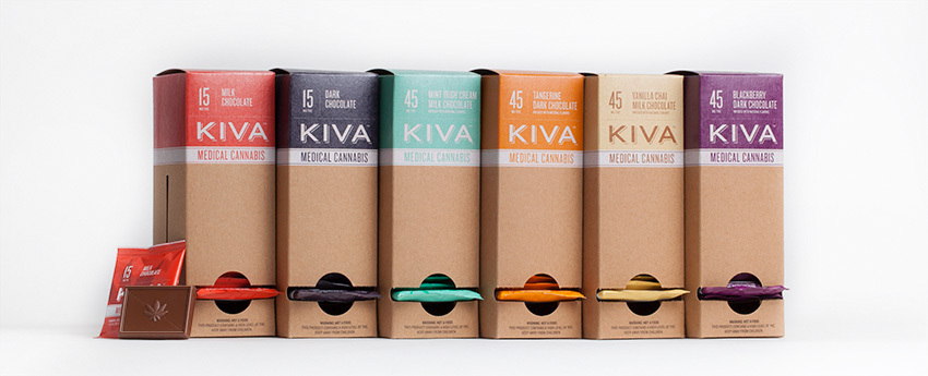 Marijuana chocolate minis by KIVA Confections