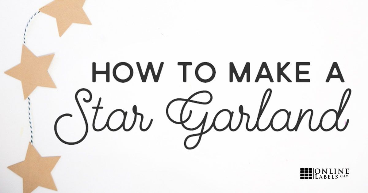 Easy 5-Minute Kraft Star Garland