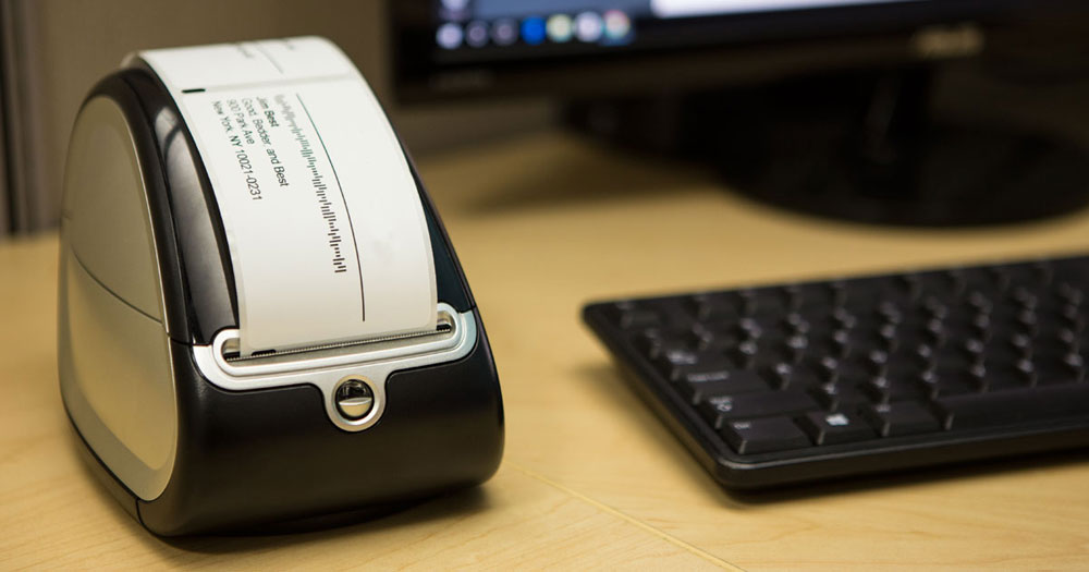 Using a label printer at your workstation
