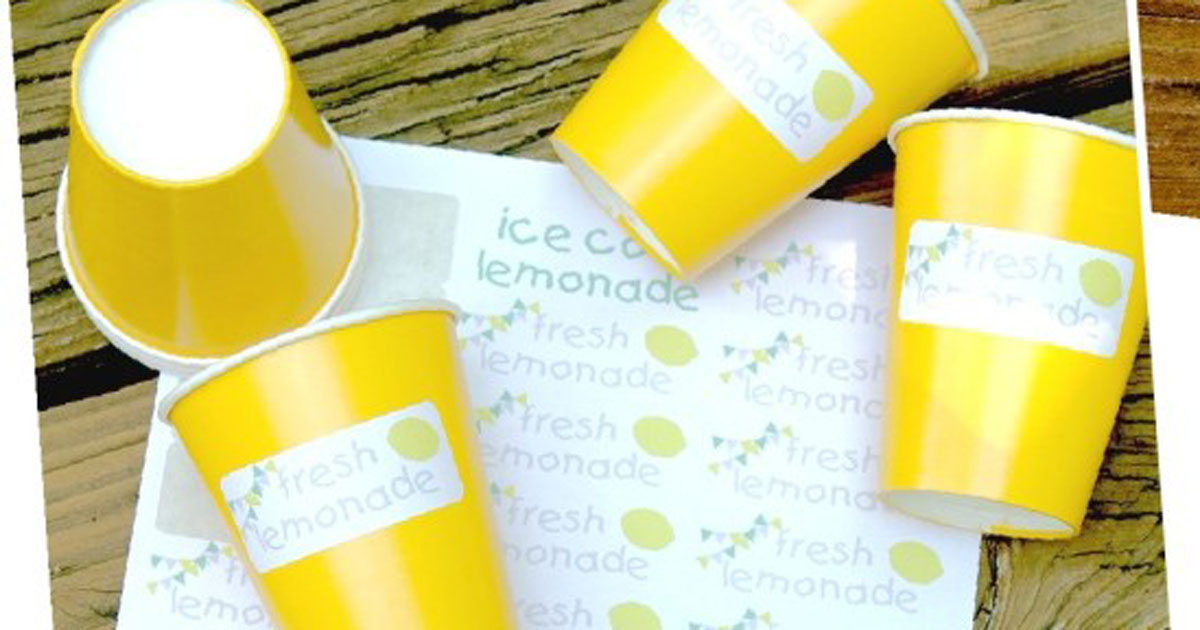 Decorate the cups at your lemonade stand with these printables