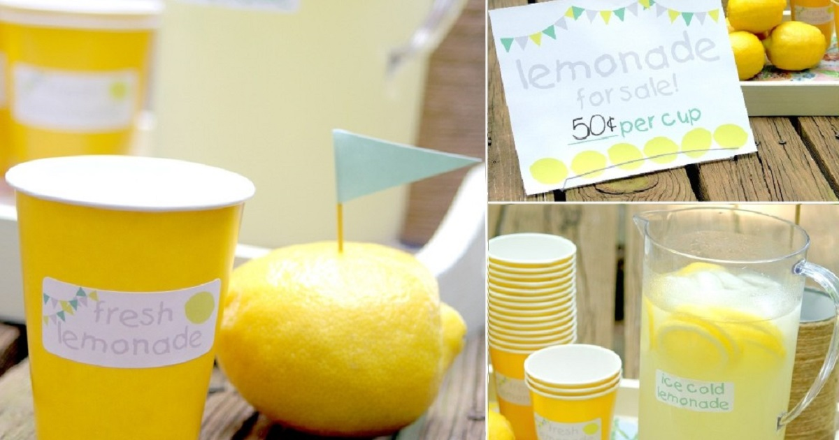 Spice up your lemonade table with these tricks