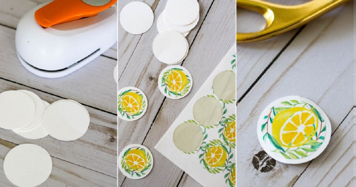 How to use stickers and cardstock to make movable straw labels