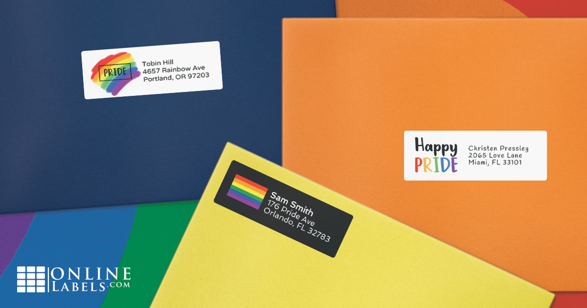 Celebrate pride month with these LGBT-friendly printable templates for addressing mail and packages