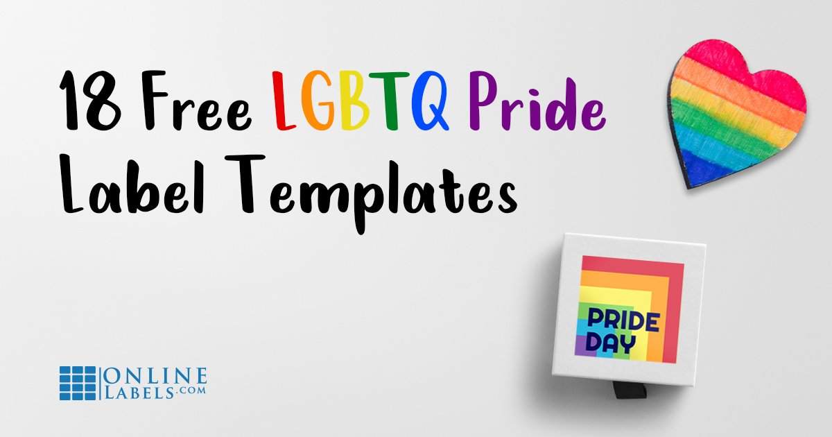 18 Free  🌈 LGBTQ Label Templates To Come Out With Pride  👭 👬 🏳 ️ ‍ 🌈