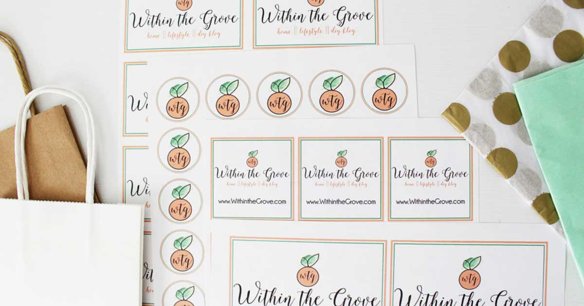 Sticker sheets printed with your company's logo
