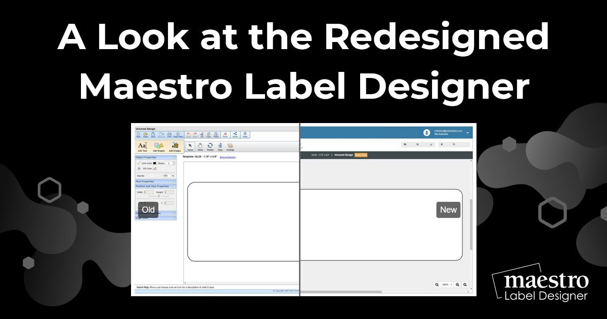 Before and afters for Maestro Label Designer
