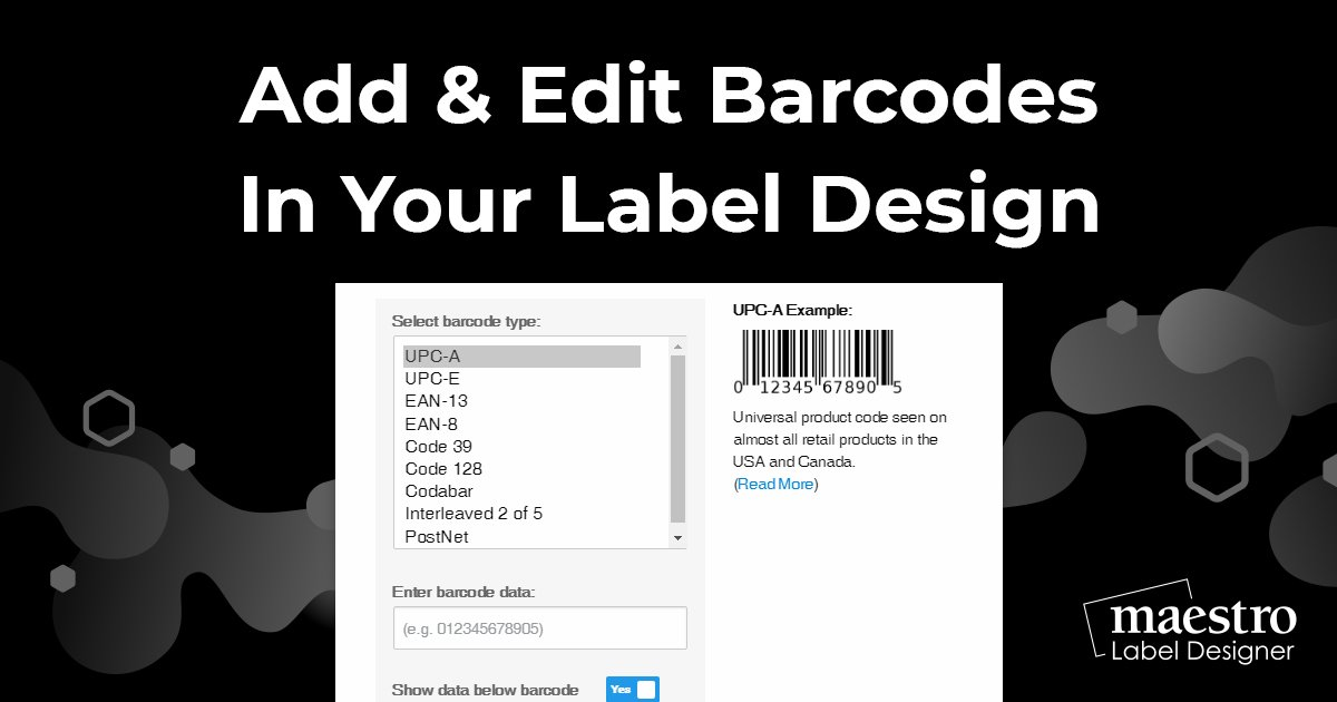 Using the barcode tool in Maestro Label Designer to create a sequence or individual codes