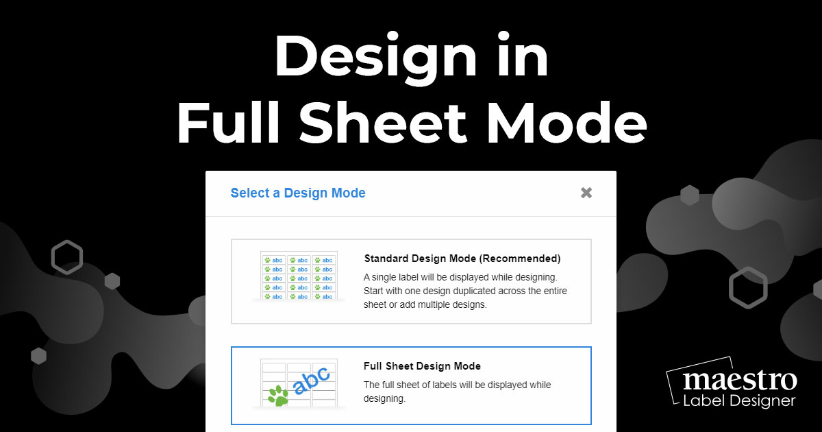 How To Design In Full Sheet Mode