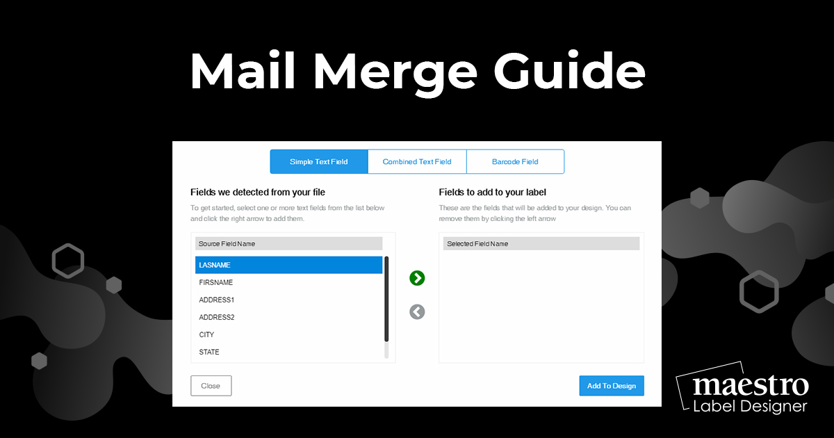 Using the mail merge tool in Maestro Label Designer
