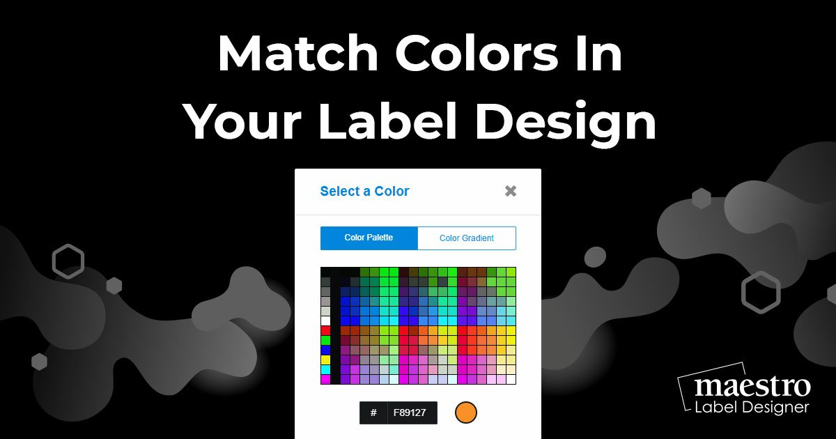 Matching colors in your images with objects on your label design in Maestro Label Designer