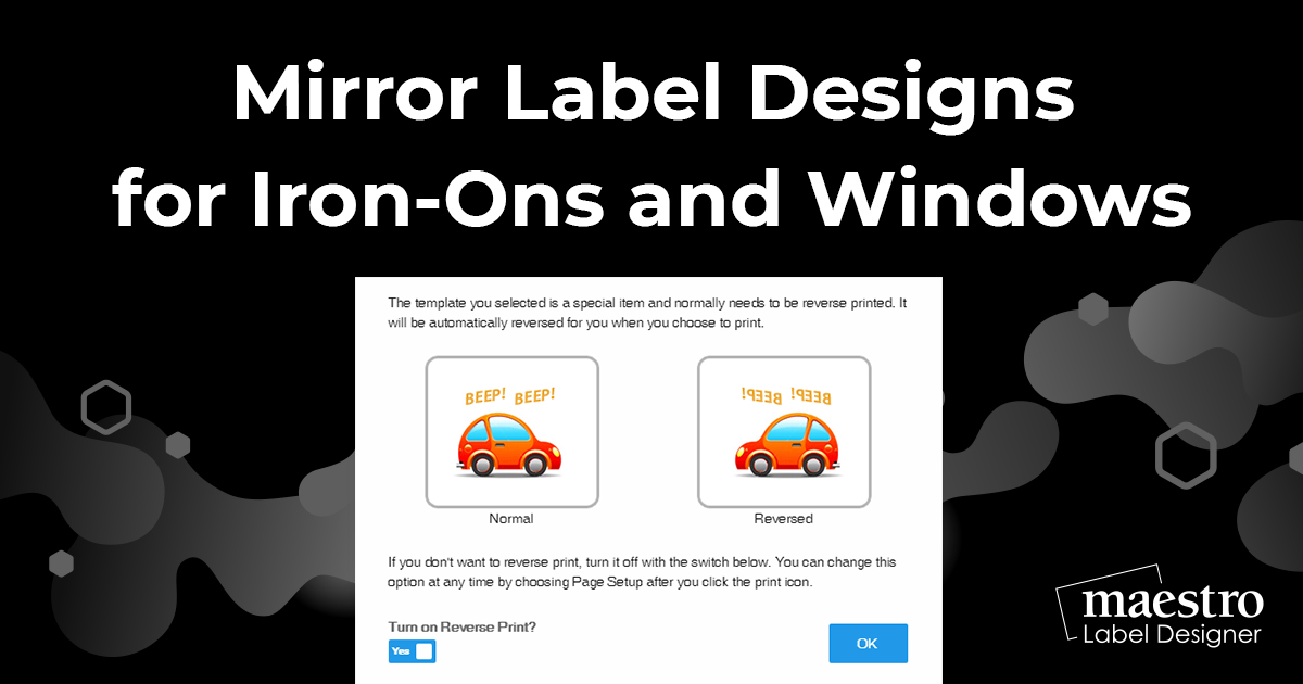 How To Mirror Label Designs For Iron-Ons and Windows