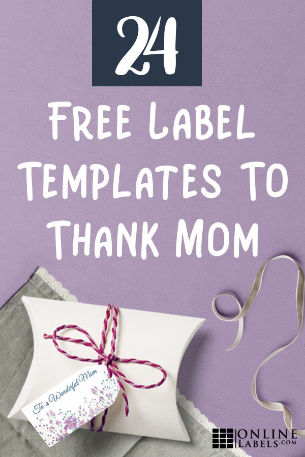 Label templates for Mother's Day