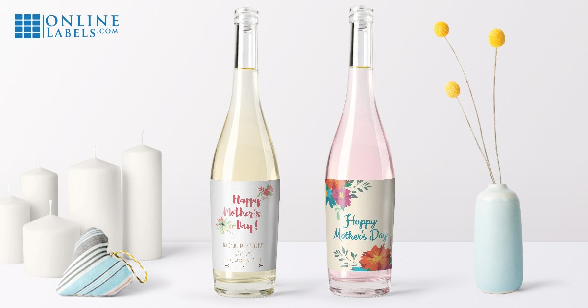 Wrap Mom's favorite bottle of wine in one of these free printable label templates for Mother's Day