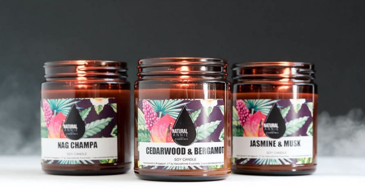 Product shot of Natural Annie candles