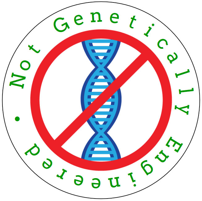 """Not Genetically Engineered"" Circle Label"
