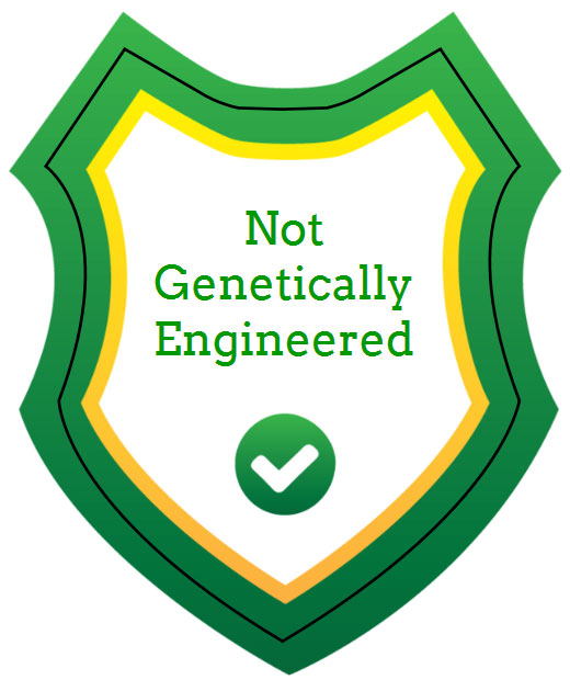 """Not Genetically Engineered"" Shield Label"
