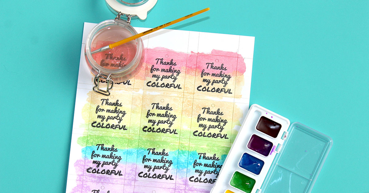 Paint or color your own party favor gift tags