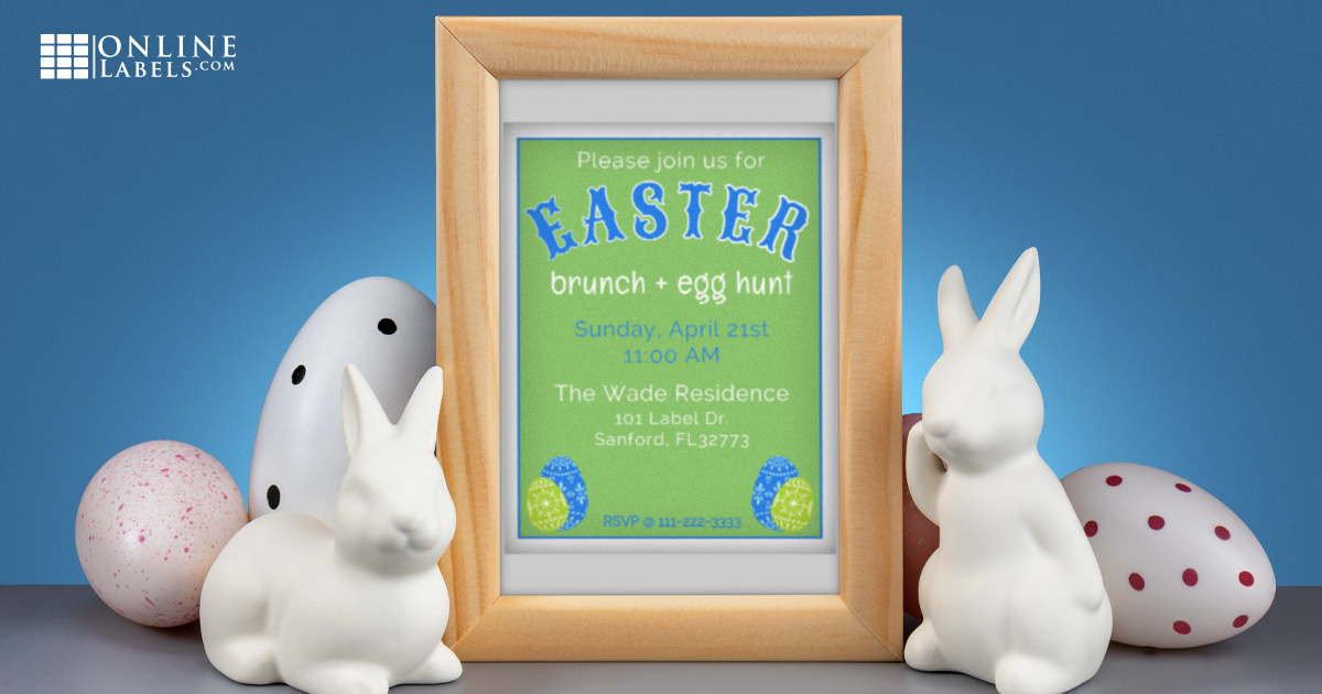 Free printable label templates to use for Easter brunch/lunch/dinner all month long