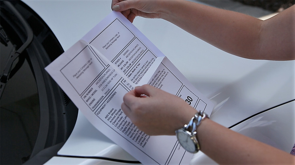 """How to peel """"reverse cut"""" car dealer window sticker label sheet"""