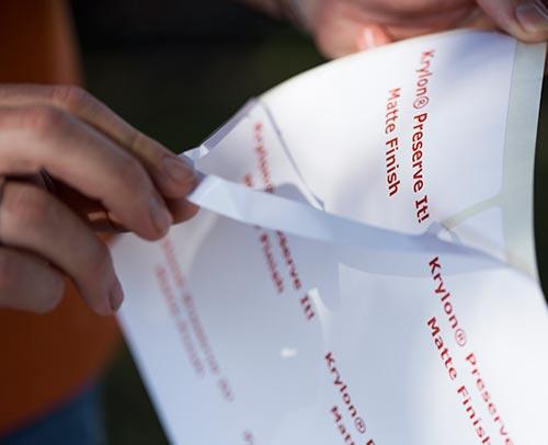 Peel off the label matrix