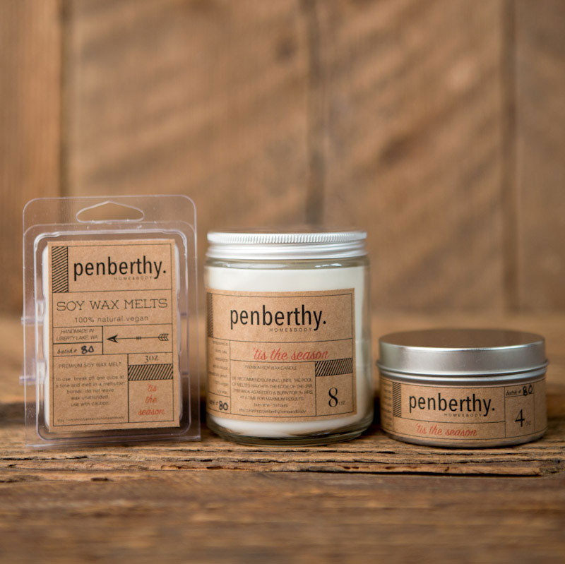 Penberthy's line of labeled candle products