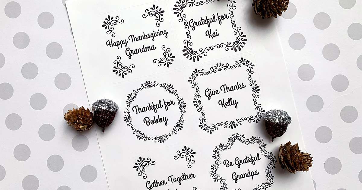 Thanksgiving place setting template.