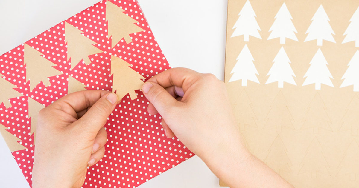 Add stickers all over your generic wrapping paper