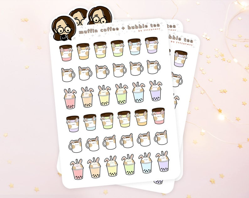 Planner stickers made from sticker paper.