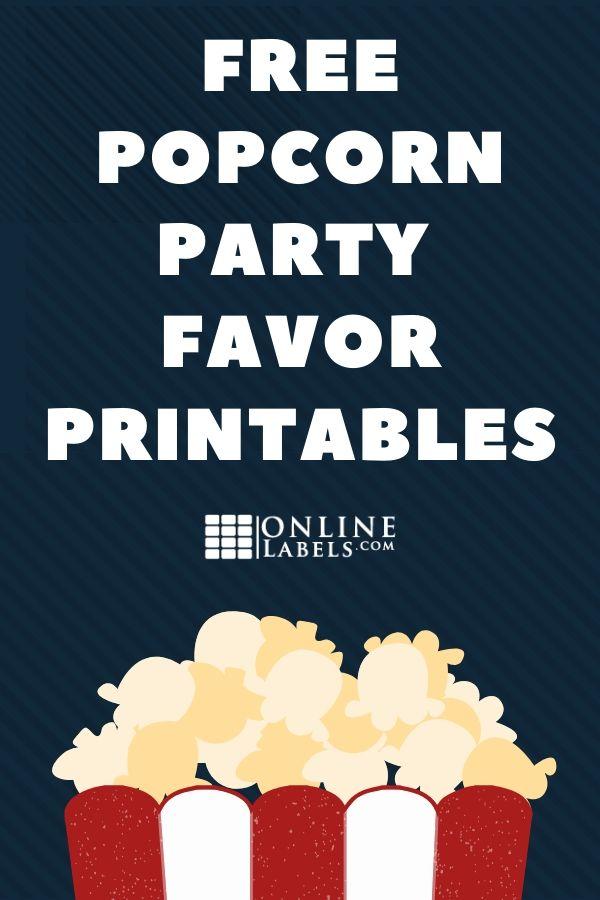 Party favor idea: popcorn kernels in a bag