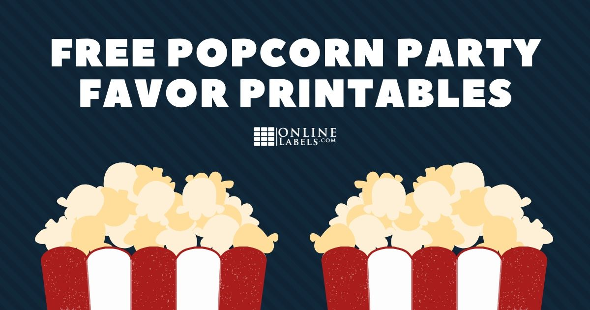 Popcorn Party Favor Label Printables