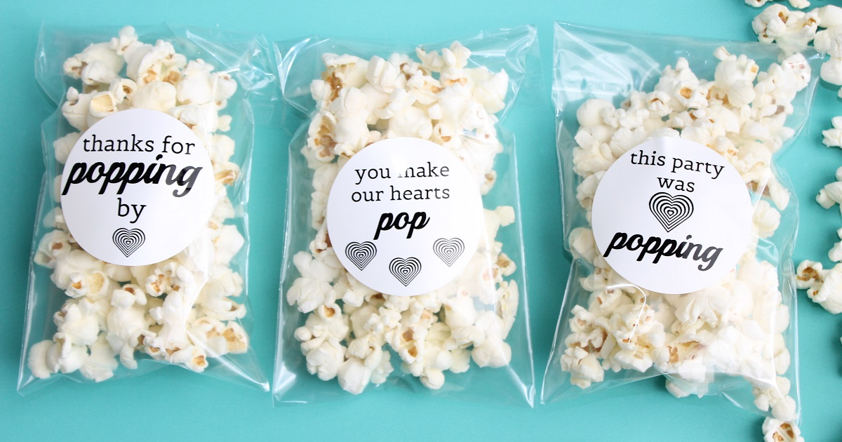Party favor idea: popcorn bags