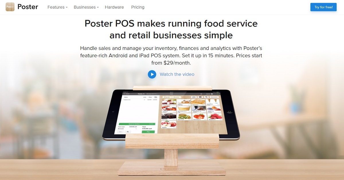 Poster POS homepage