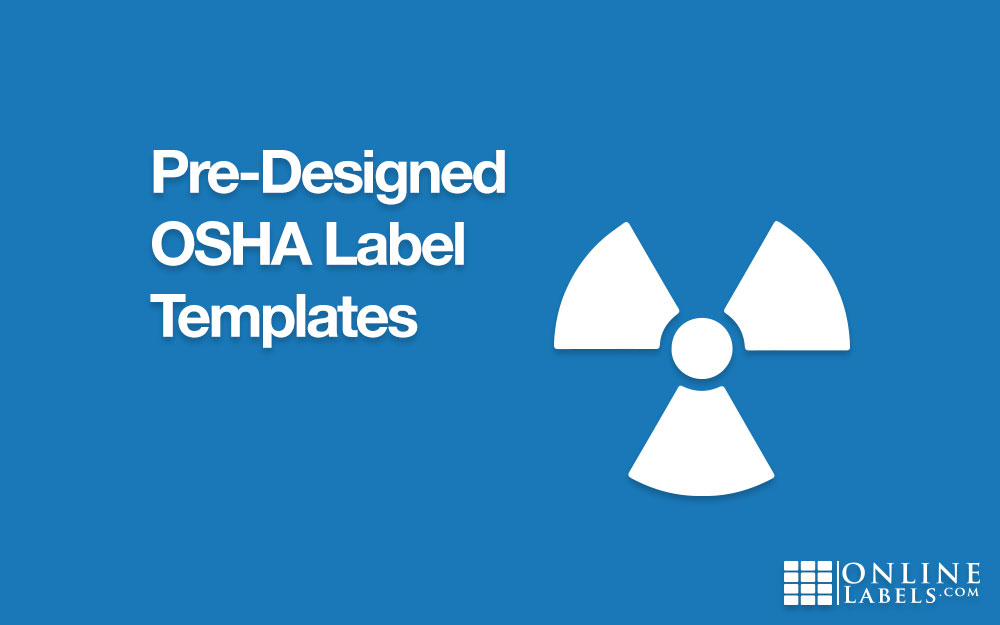 Editable OSHA printable label templates